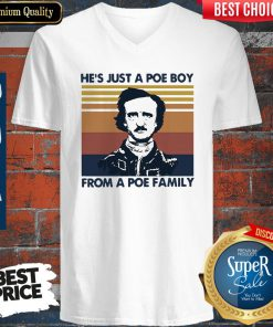 Premium He's Just A Poe Boy From A Poe Family Vintage Version V-neck