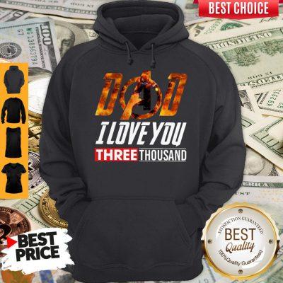 Premium Iron Man Dad I Love You Three Thousand Hoodie