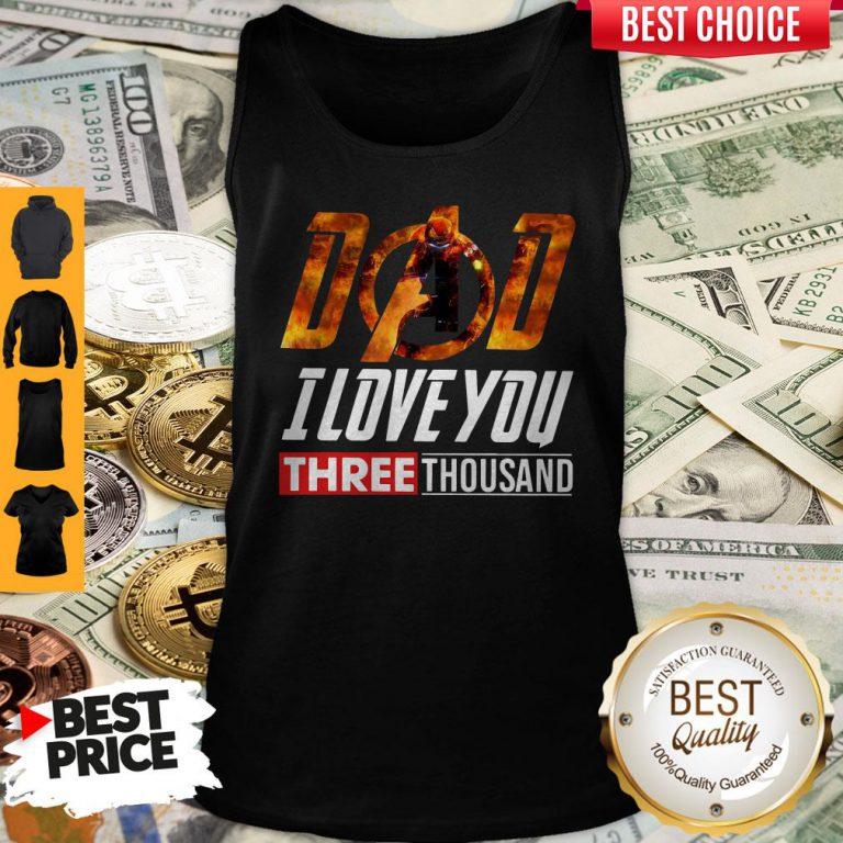Premium Iron Man Dad I Love You Three Thousand Tank Top