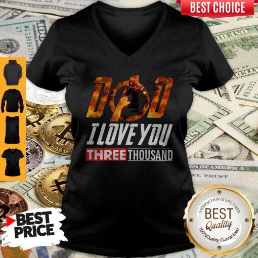 Premium Iron Man Dad I Love You Three Thousand V-neck