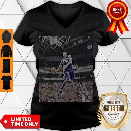Premium Kobe Bryant Playing Basketball V-neck