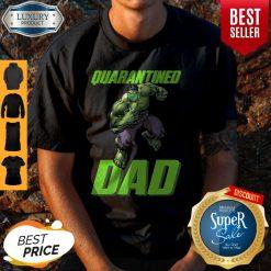 Premium Marvel Super Hulk Face Mask Quarantined Dad Shirt
