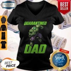 Premium Marvel Super Hulk Face Mask Quarantined Dad V-neck
