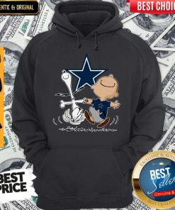 Premium Snoopy And Charlie Brown Dallas Cowboys Hoodie