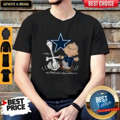 Premium Snoopy And Charlie Brown Dallas Cowboys Shirt