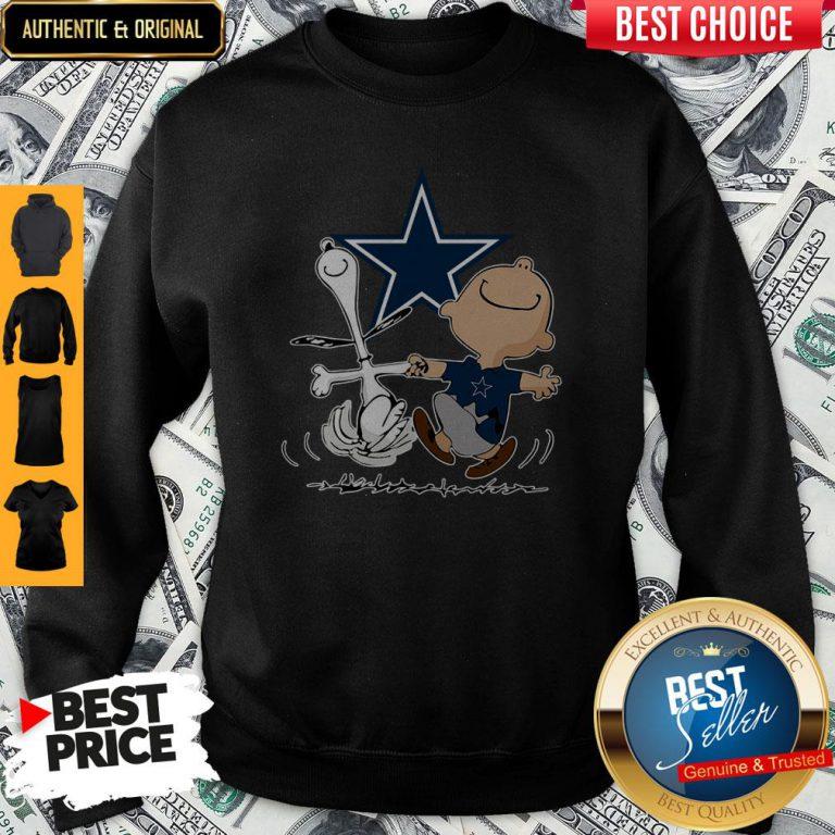 Premium Snoopy And Charlie Brown Dallas Cowboys Sweatshirt
