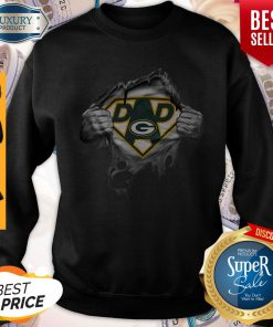 Pretty Blood Inside Me Dad Green Bay Packers Logo Sweatshirt