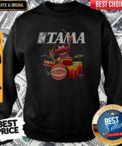 Pretty Muppets Animal Playing Drum Kits Tama Drums Sweatshirt