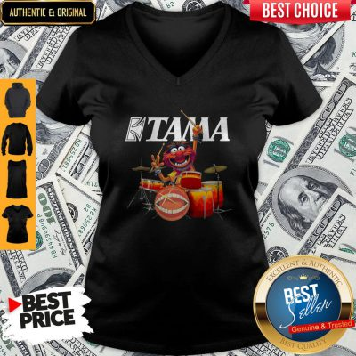 Pretty Muppets Animal Playing Drum Kits Tama Drums V-neck