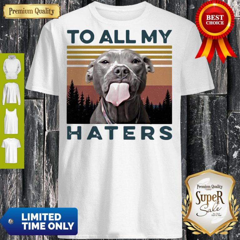 Pretty Pit Bull To All My Haters Vintage Shirt