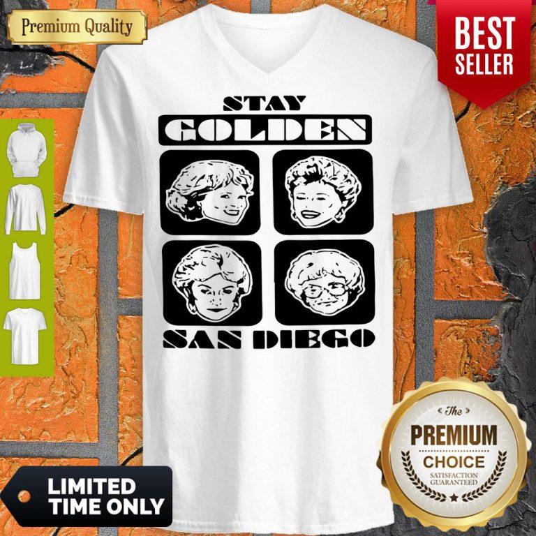 Pretty Stay Golden San Diego V-neck