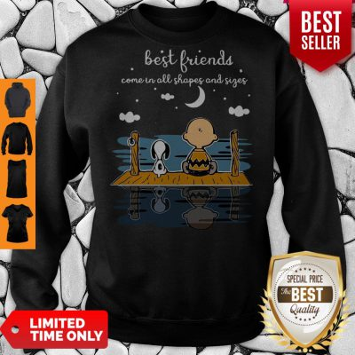 Snoopy And Peanut Best Friends Come In All Shapes And Sizes Sweatshirt