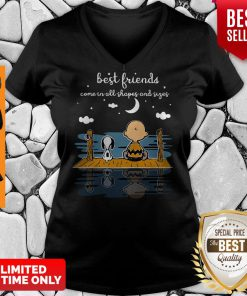 Snoopy And Peanut Best Friends Come In All Shapes And Sizes V-neck