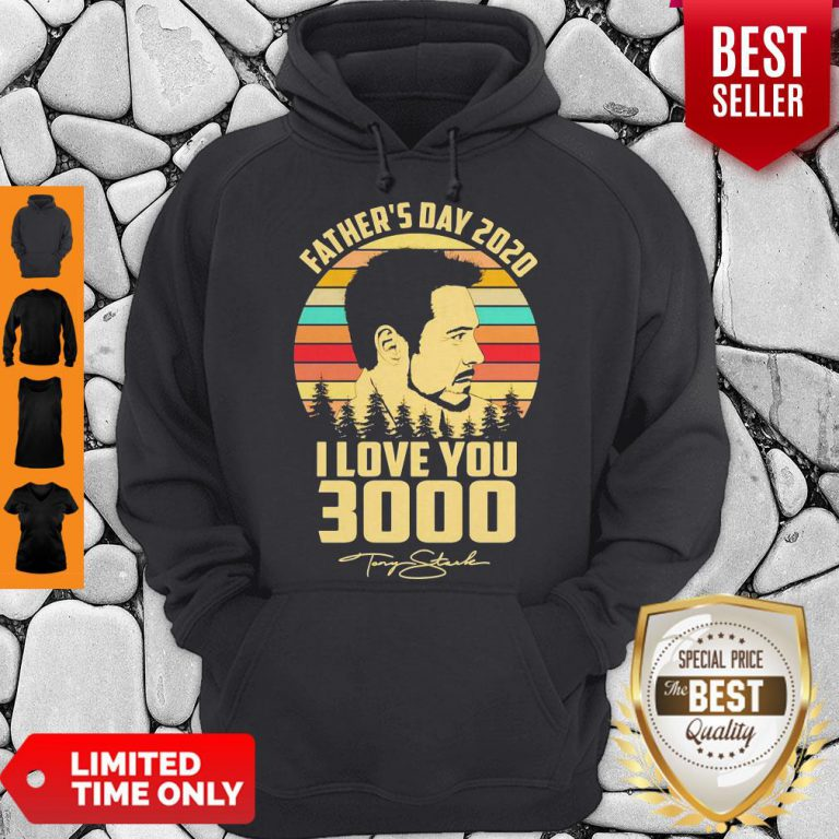 Tony Stank Father's Day 2020 I Love You 3000 Signature Vintage Hoodie