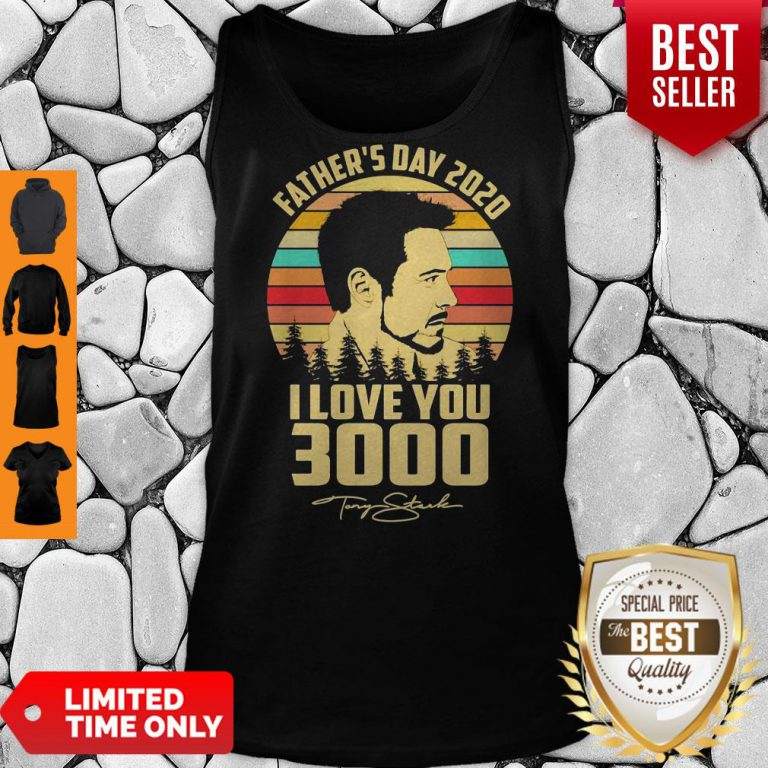 Tony Stank Father's Day 2020 I Love You 3000 Signature Vintage Tank Top
