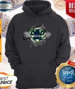 Top Blood Inside Me Dad Seattle Seahawks Logo Hoodie