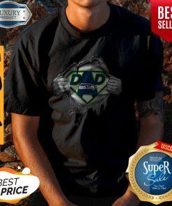Top Blood Inside Me Dad Seattle Seahawks Logo Shirt