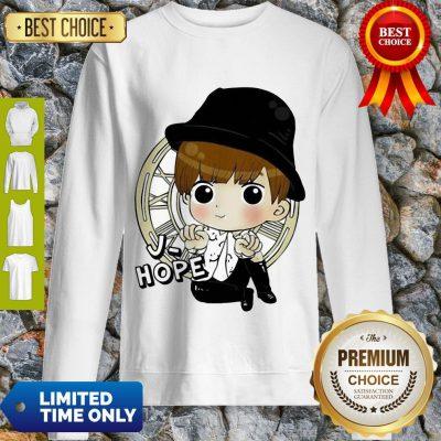 Top Bts Bangtan Boy Same Cartoon J Hope V Rap Monster Sweatshirt