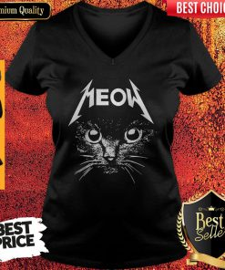 Top Cat Lover Meow V-neck