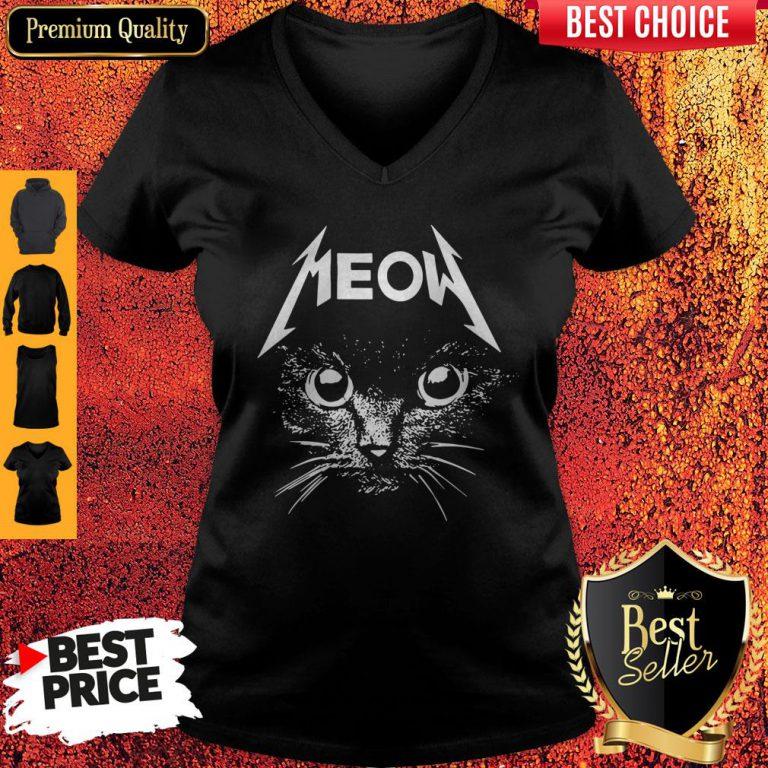 Top Cat Lover Meow V-neck