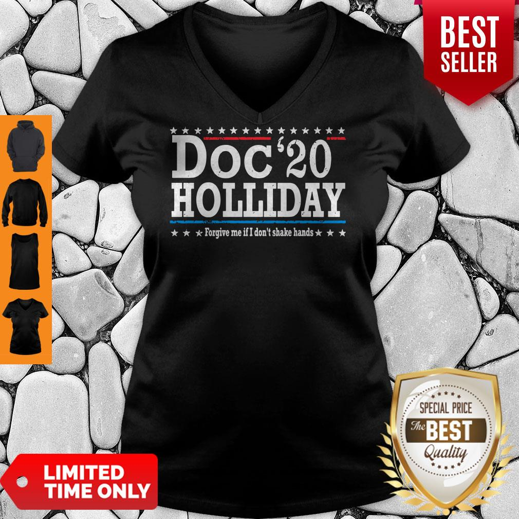 Top Doc'20 Holliday Forgive Me If I Don't Shake Hands V-neck