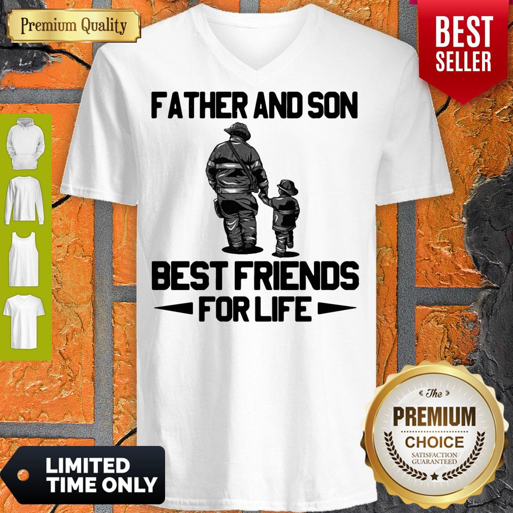 Top Father And Son Riding Partners For Life V-neck