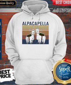 Top Llama Alpacapella Music Teacher Strong Vintage Hoodie