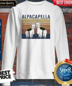 Top Llama Alpacapella Music Teacher Strong Vintage Sweatshirt