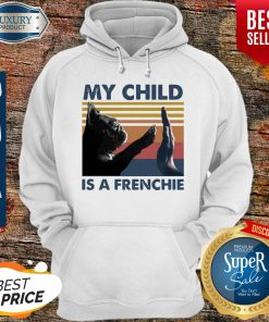 Top My Child Is A Frenchie Pug Vintage Hoodie