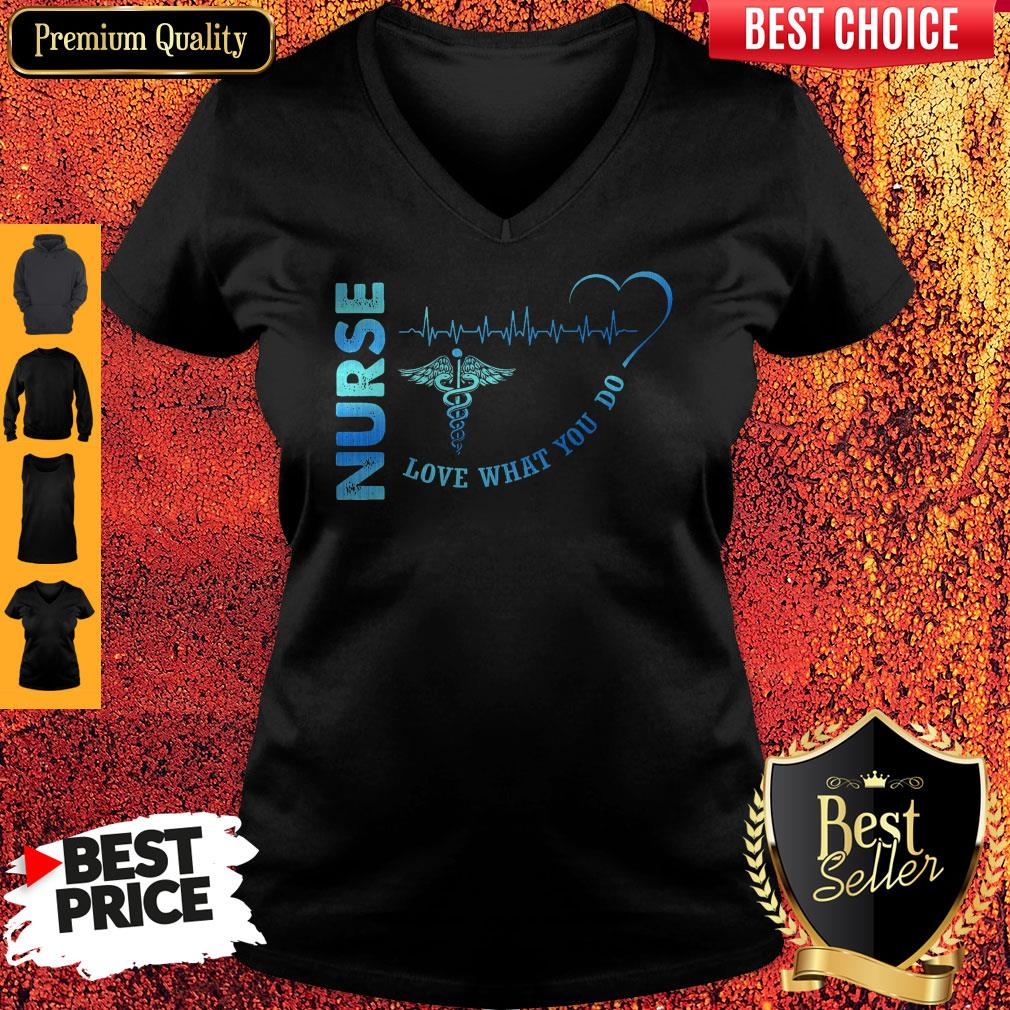 Top Nurse Love What You Do V-neck