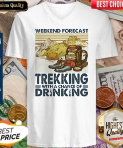 Weekend Forecast Trekking With A Chance Of Drinking Vintage V-neck