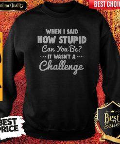 When I Said How Stupid Can You Be It Wasn't Challenge Sweatshirt