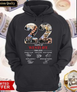 22 Years Of Westlife 1998 2020 Signatures Hoodiea