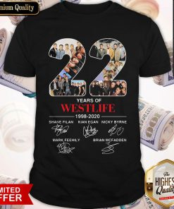 22 Years Of Westlife 1998 2020 Signatures Shirt