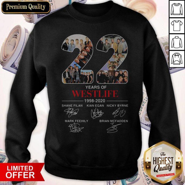 22 Years Of Westlife 1998 2020 Signatures Sweatshirt
