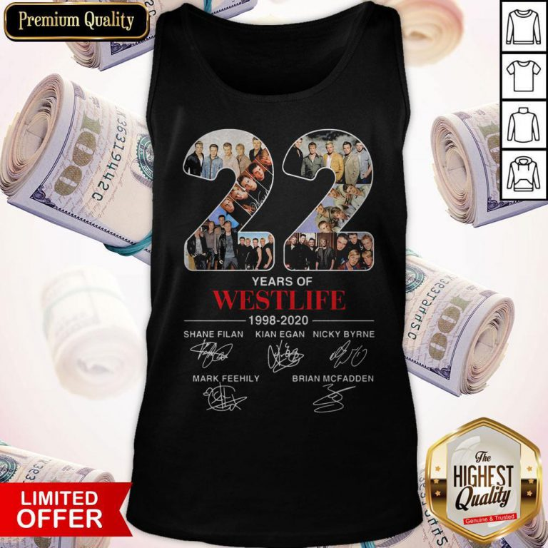22 Years Of Westlife 1998 2020 Signatures Tank Top