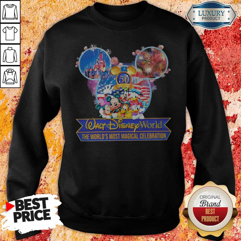 50th Anniversary Walt Disney World the World's Most Magical Celebration Sweatshirt