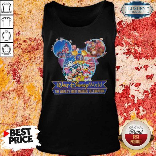 50th Anniversary Walt Disney World the World's Most Magical Celebration Tank Top