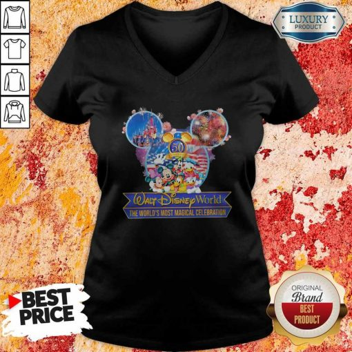 50th Anniversary Walt Disney World the World's Most Magical Celebration V- neck