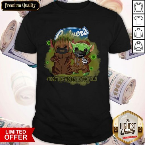 Baby Groot And Baby Yoda Face Mask Star Wars Darth Vader Culver's Together We Can Beat Covid 19 Shirt