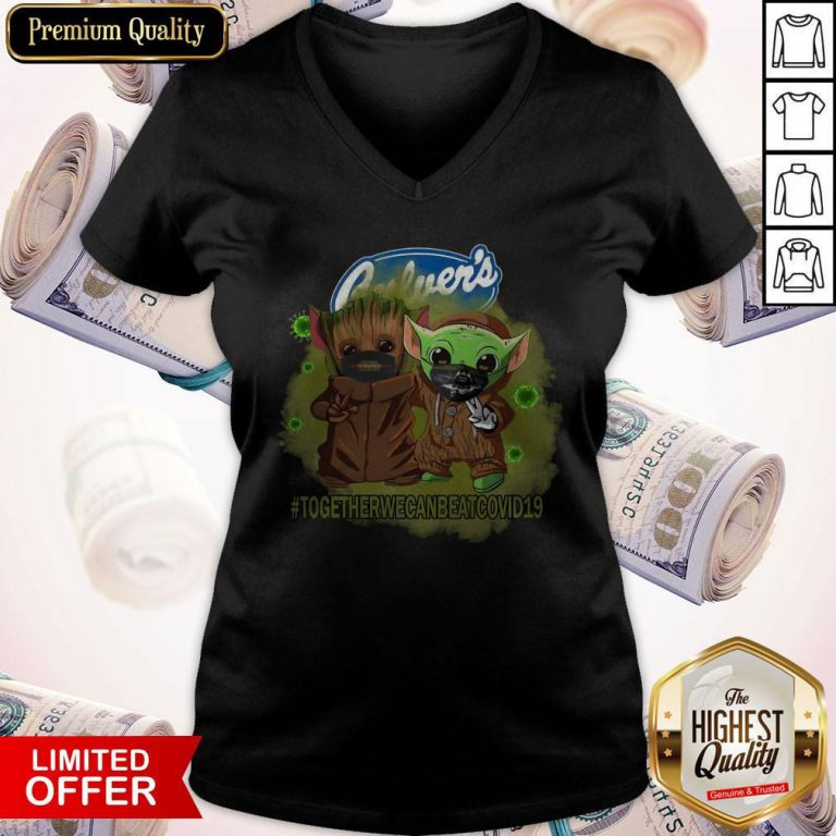 Baby Groot And Baby Yoda Face Mask Star Wars Darth Vader Culver's Together We Can Beat Covid 19 V- neck
