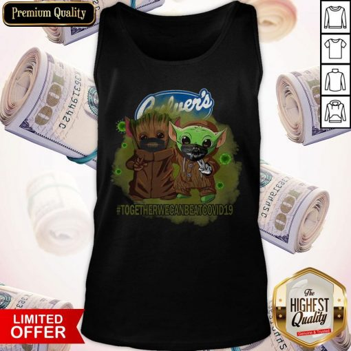 Baby Groot And Baby Yoda Face Mask Star Wars Darth Vader Culver's Together We Can Beat Covid 19 Tank Top