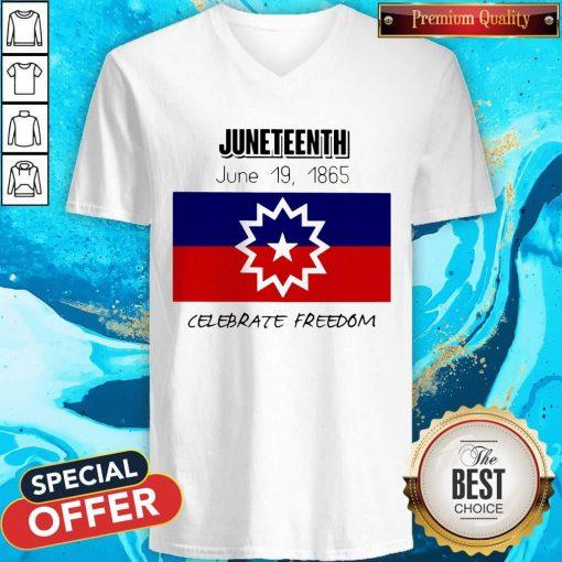 juneteenth-june-19-1865-celebrate-freedom- V-neck