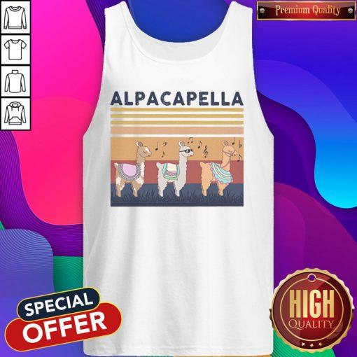 alpacapella-camel-vintage-retro Tank Top