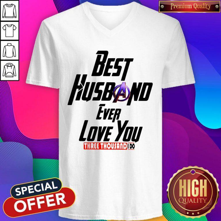 Avengers Best Husband Ever Love You Three Thousand I Do V-neck