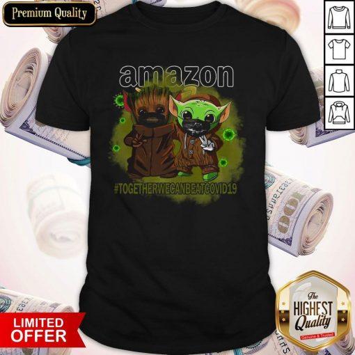 Baby Groot And Baby Yoda Face Mask Star Wars Darth Vader Amazon Together We Can Beat Covid 19 Shirt