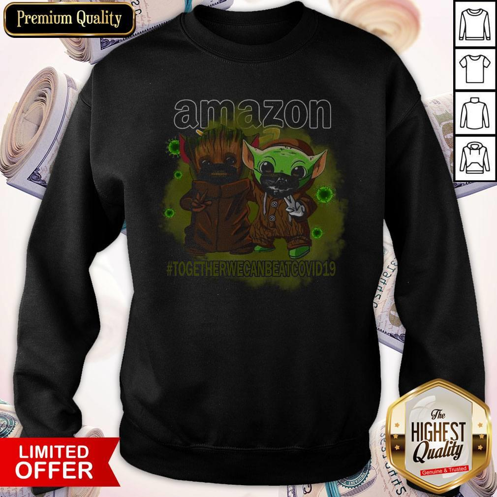 Baby Groot And Baby Yoda Face Mask Star Wars Darth Vader Amazon Together We Can Beat Covid 19 Sweatshirt