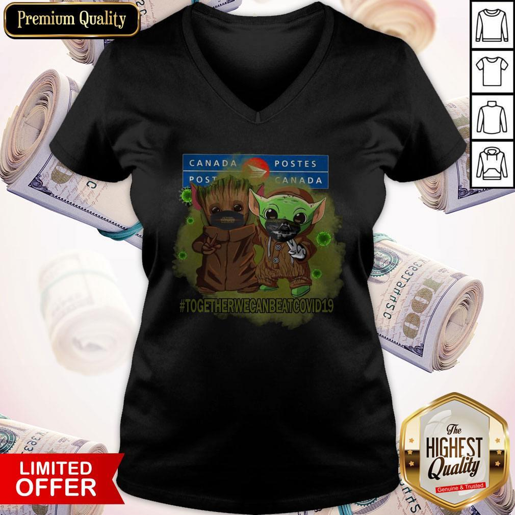 Baby Groot And Baby Yoda Face Mask Star Wars Darth Vader Canada Post Together We Can Beat Covid 19 V- neck