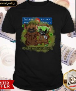 Baby Groot And Baby Yoda Face Mask Star Wars Darth Vader Canada Post Together We Can Beat Covid 19 Shirt