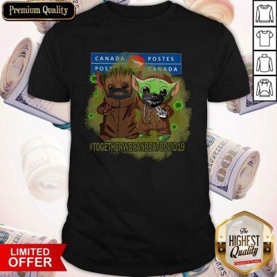Baby Groot And Baby Yoda Face Mask Star Wars Darth Vader Canada Post Together We Can Beat Covid 19 Shirt